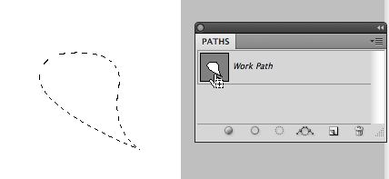 Selecting the Bezier pen tool shape